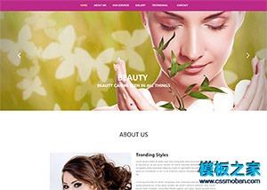 美容SPA会所单页展示网页模板