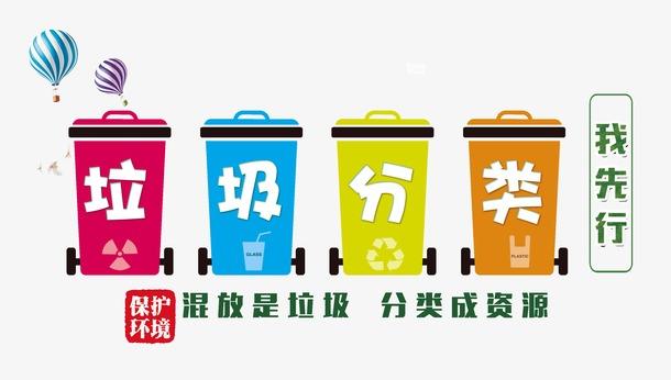 卡通垃圾分类图标装饰