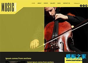 大提琴音乐演奏企业模板