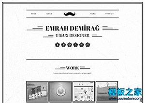 黑白简洁设计师网站模板