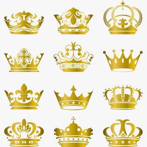 金色皇冠矢量图标标志图片