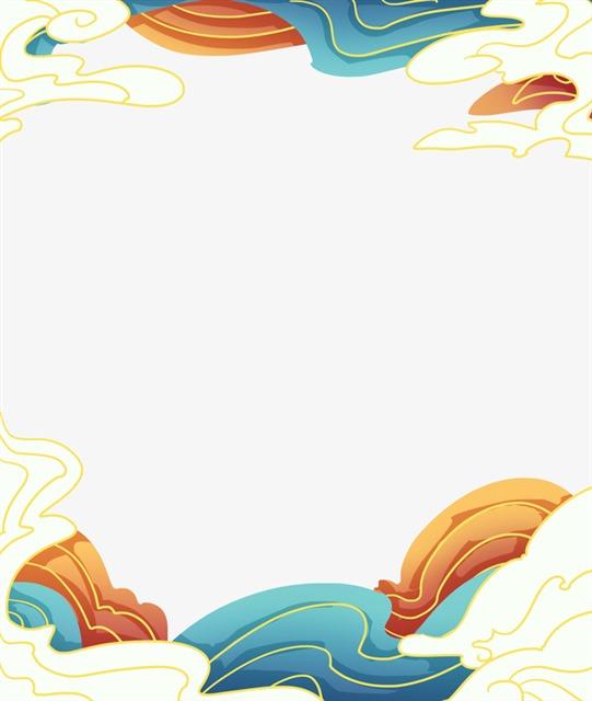 国潮风云朵装饰