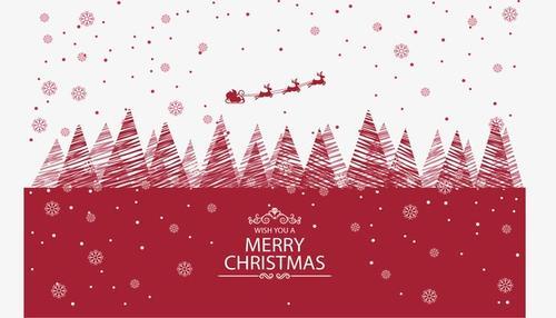 圣诞节海报底框