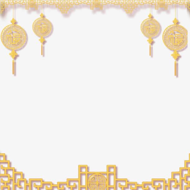 中式牛年装饰边框