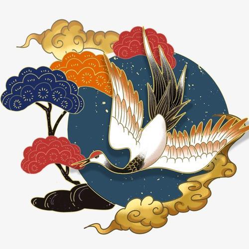 中国风国潮仙鹤
