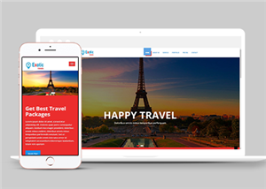 国外旅游度假套餐定制网站模板