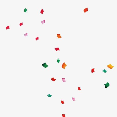 彩带纸片漂浮元素