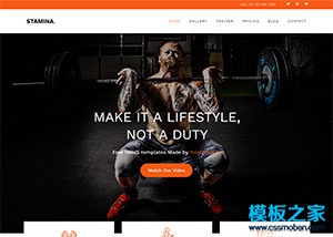 健身俱乐部会所网站模板