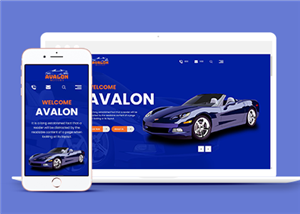 汽车保养网站模板