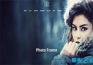 摄影作品单页网站模板