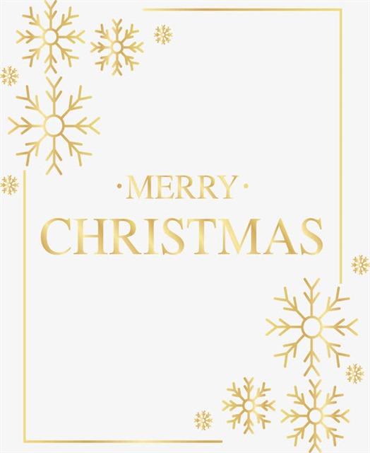 圣诞节雪花金色边框