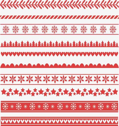 圣诞节分割线边框元素