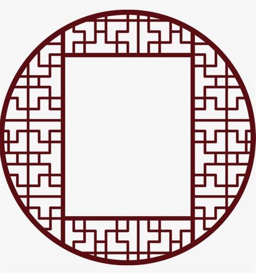 圆形中式复古窗框