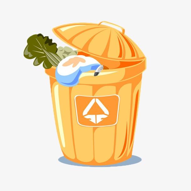 黄色垃圾桶图片