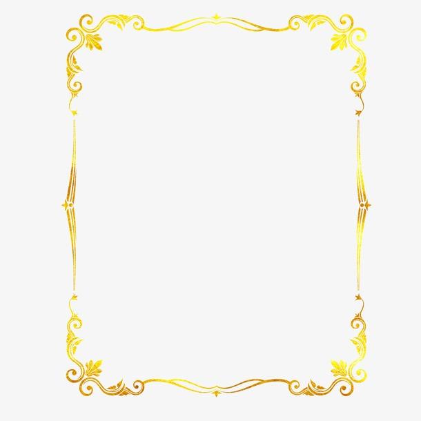 奢华烫金花纹边框