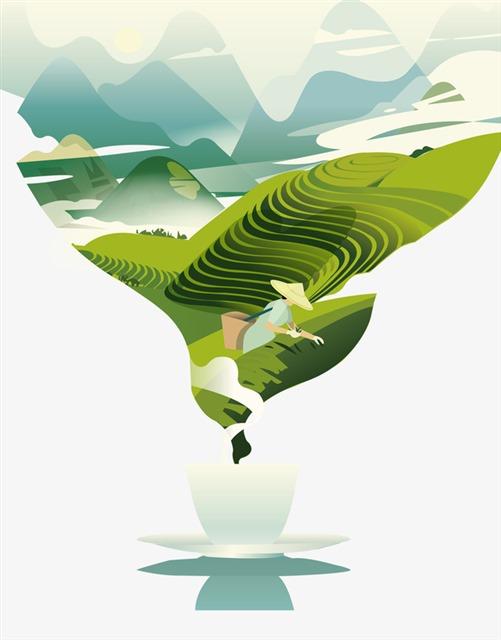 中国茶文化创意图片