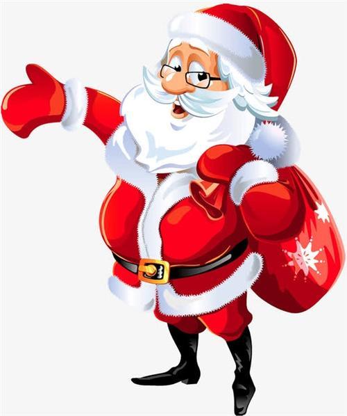 平安夜圣诞老人卡通
