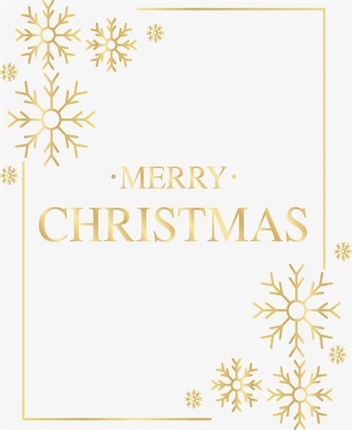 圣诞快乐雪花边框