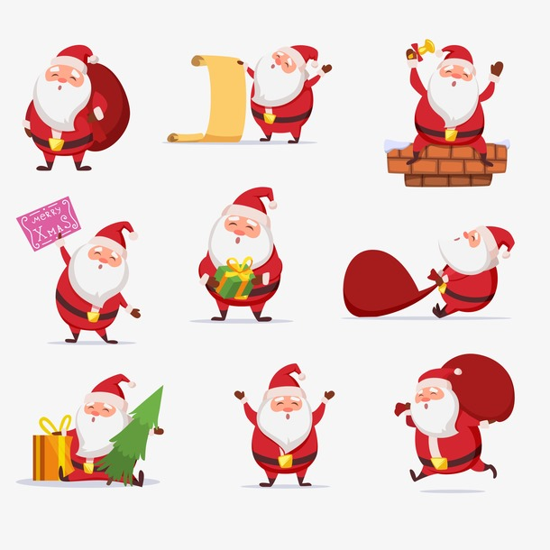 圣诞老人朋友圈图片