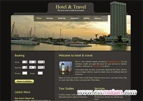 连锁酒店企业网站模板