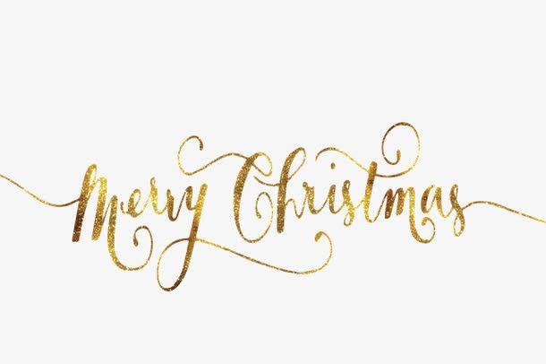 圣诞快乐英文花体字