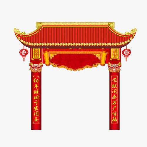春节门头图片