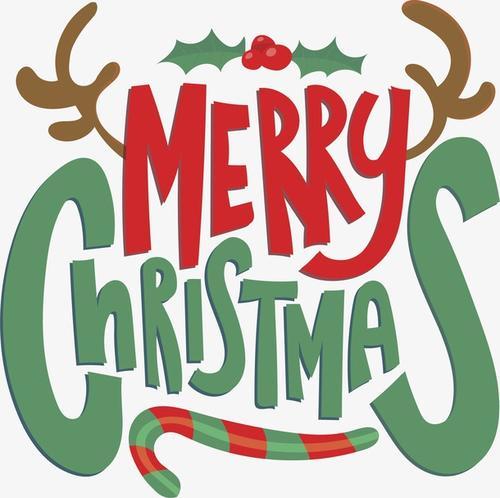 圣诞节卡通花样艺术字设计
