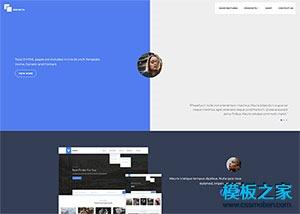 蓝色极简开发者官网模板