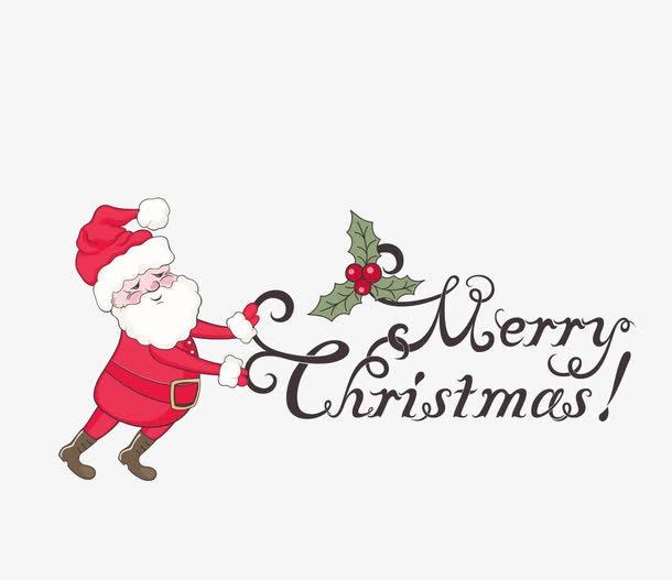 圣诞老人祝福图片