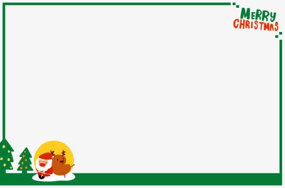 绿色卡通圣诞元素贺卡边框