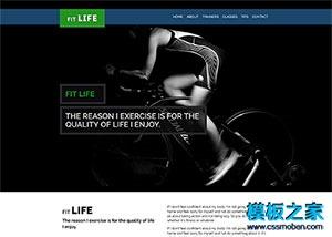健身房官网网站模板