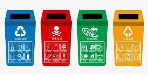 4个分类垃圾桶图片