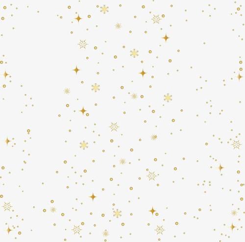 冬天圣诞金色漂浮雪花元素