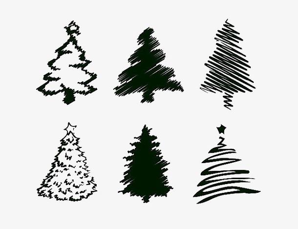 圣诞树简笔画设计