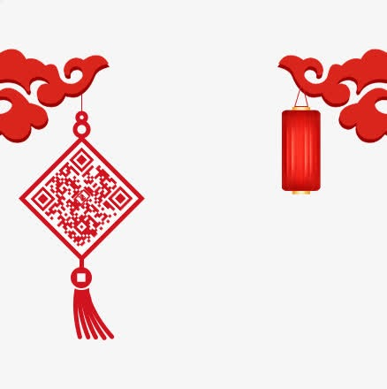 红色中国风二维码设计