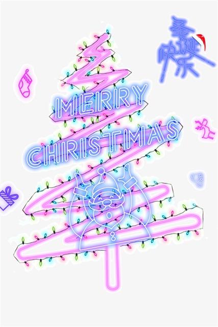 圣诞树彩灯装饰