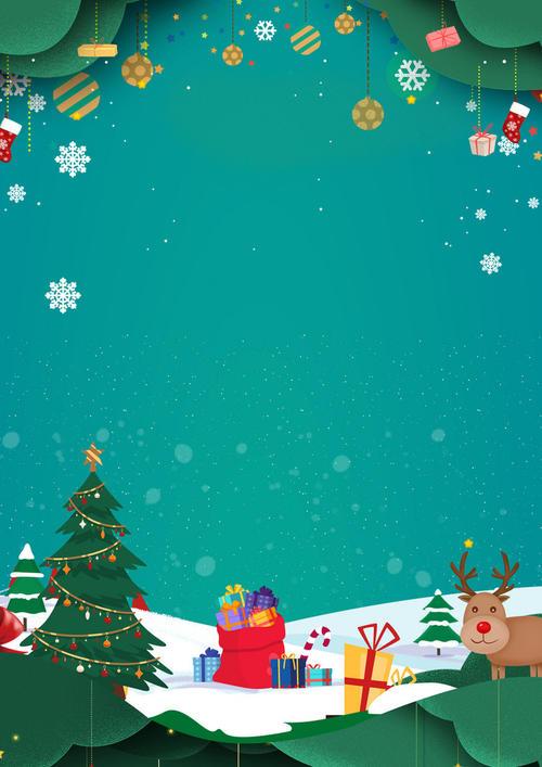 圣诞平安夜通用主题背景图