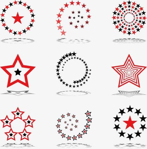 五角星logo设计图片