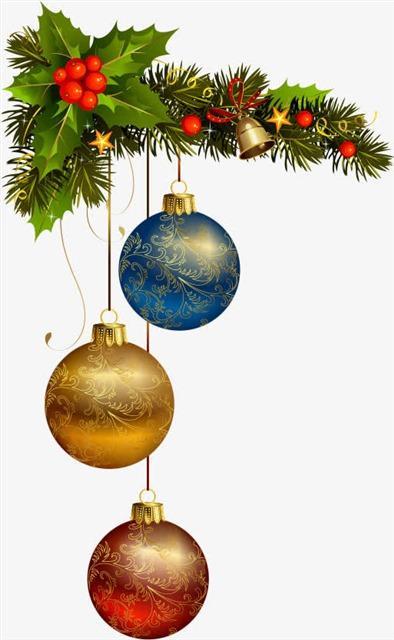 圣诞节彩球元素