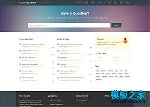 知识问答技术论坛网站模板