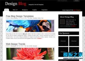 UI设计博客模板