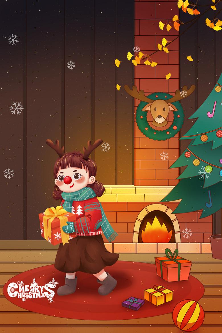 圣诞插画背景