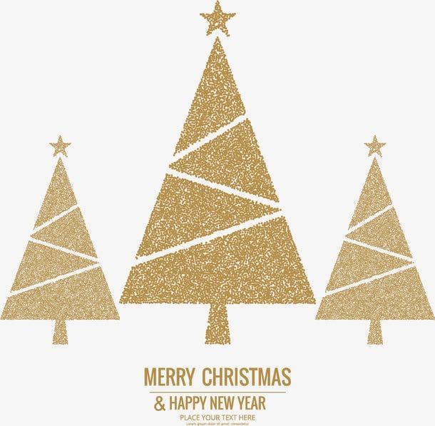 金色几何圣诞树