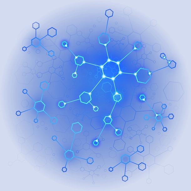 蓝色科技感光圈