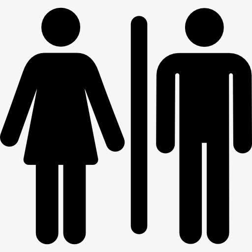 男女厕所矢量图标标志