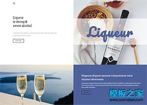 葡萄酒网站模板