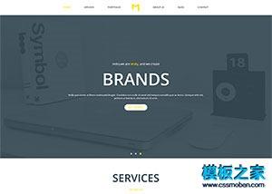 大图项目设计企业网站模板