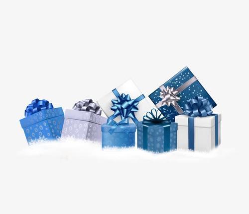 蓝色圣诞节礼盒