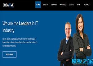 多种设备兼容单页网站模板