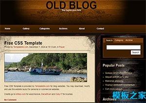 old blog三列页脚设计网站模板